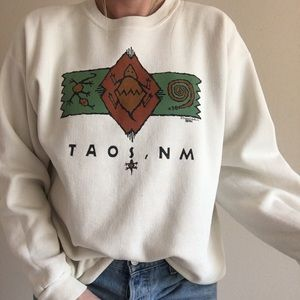 Vintage Tao, New Mexico Crewneck Pullover Sweater